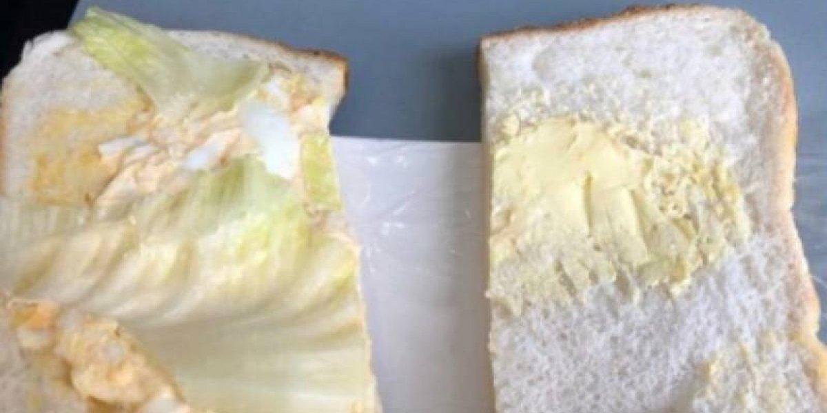 """Pagó $ 4.000 por un sándwich en un avión y lo que le dieron le """"quitó el hambre"""" de sólo mirarlo"""