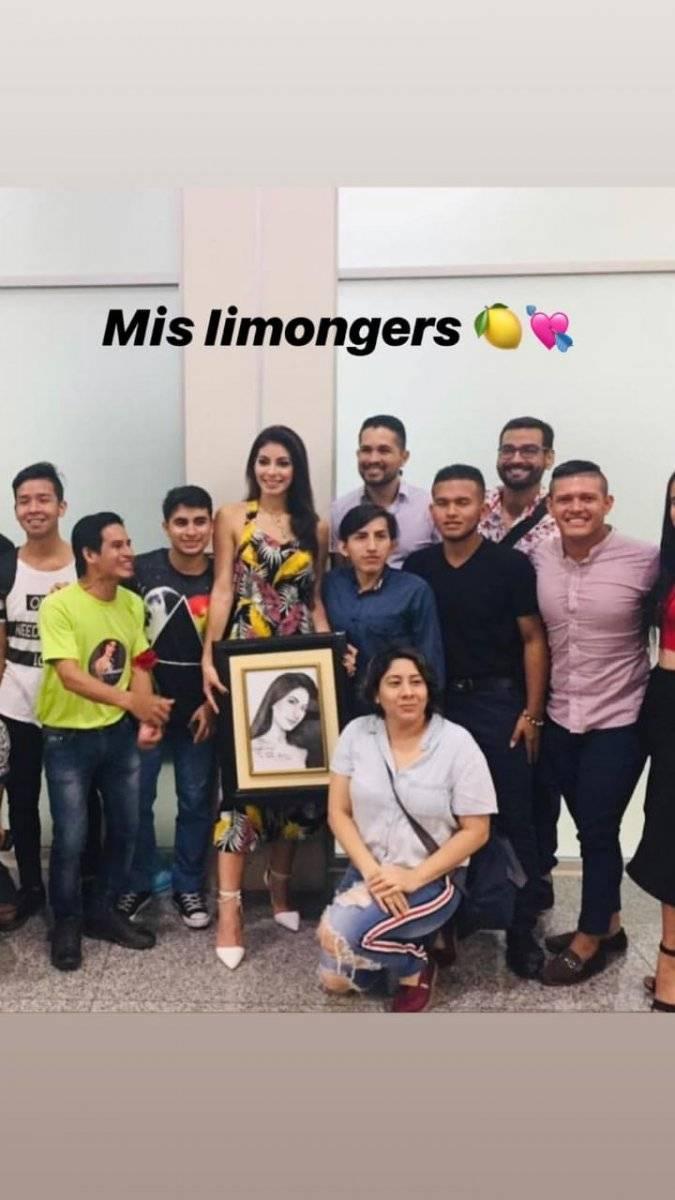 Así fue el recibimiento a Virginia Limongi, tras su llegada a Ecuador Instagram