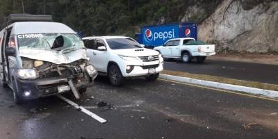 accidente en kilómetro 132 de la ruta Interamericana