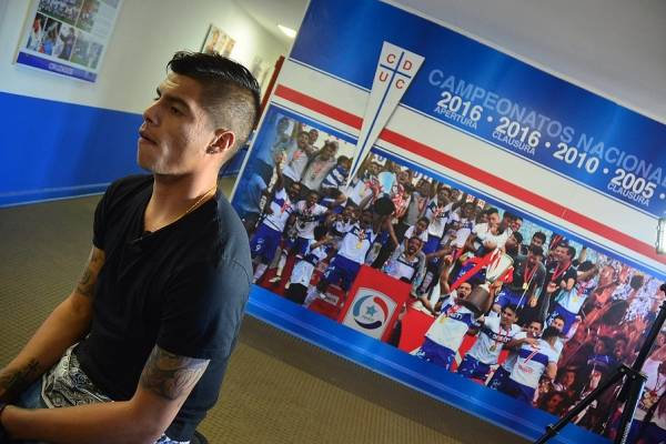 Benjamín Vidal fue confirmado como integrante del plantel de la UC en 2019 / Foto: Agencia UNO