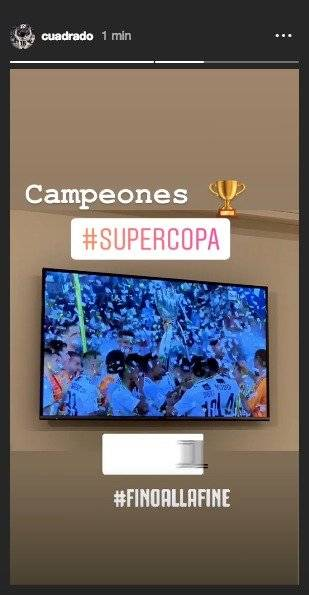Cuadrado Supercopa de Italia 2019