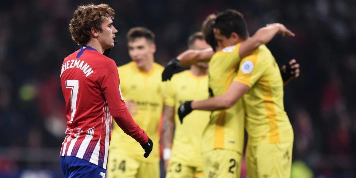 El humilde Girona hace historia y elimina de la Copa del Rey al poderoso Atlético de Madrid