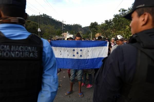 caravana de migrantes hondureños 2019