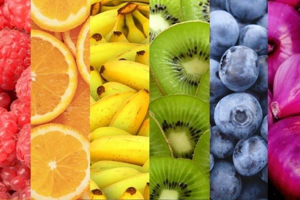 Las frutas y azúcar