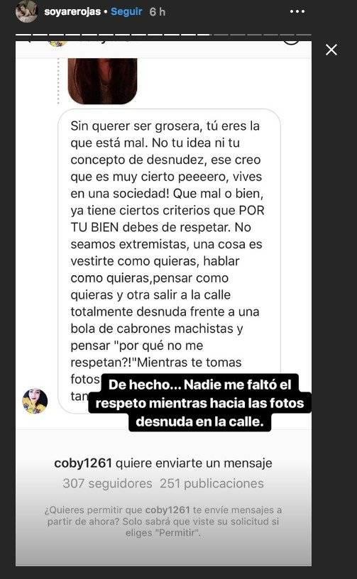 Historias de Instagram de Are Rojas Instagram