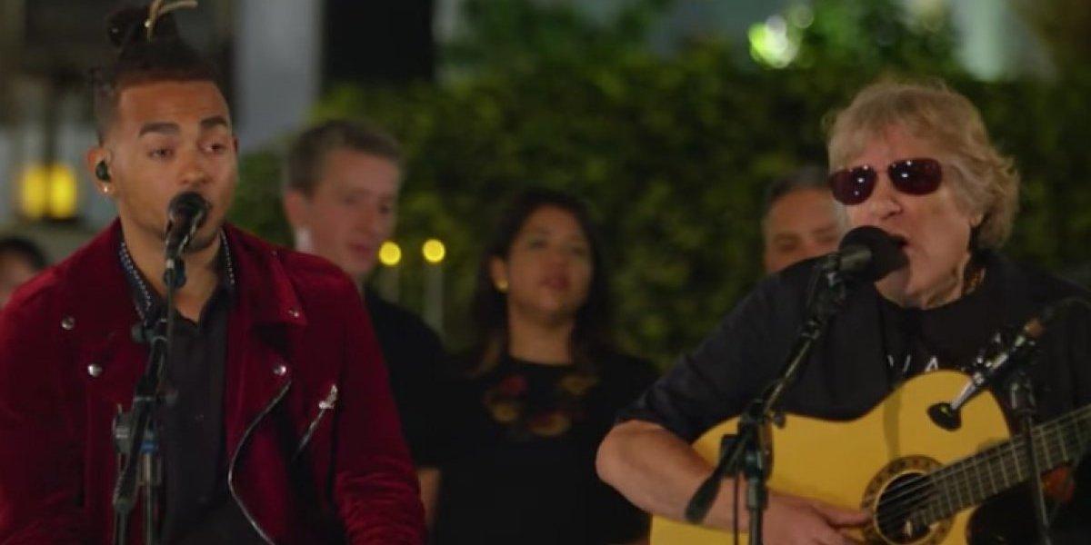 Espectacular presentación Ozuna y José Feliciano en programa de Jimmy Fallon