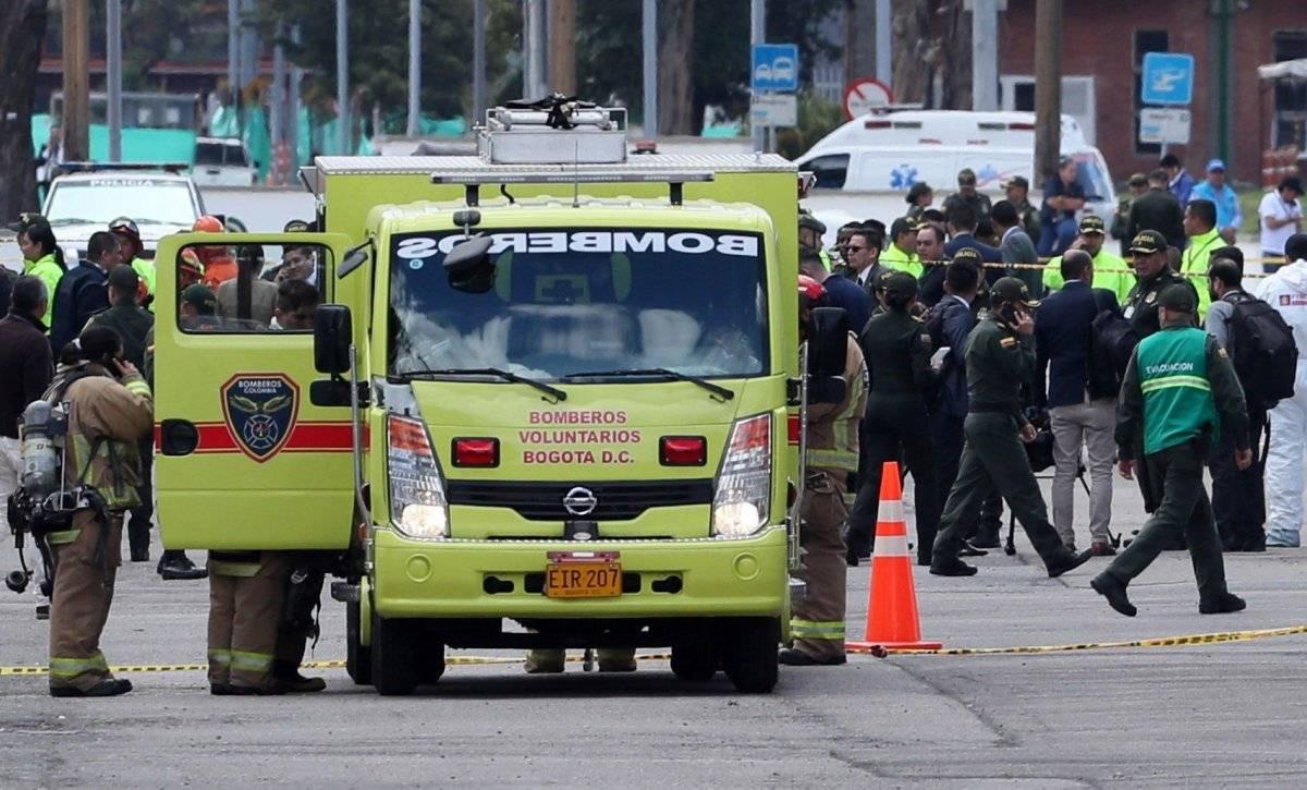 Explosión del coche bomba en Bogotá EFE