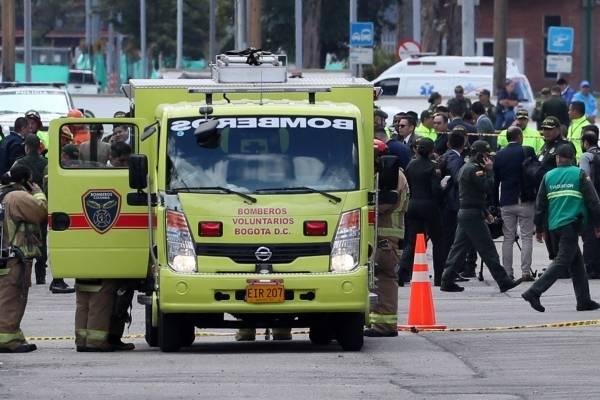 Explosión del coche bomba en Bogotá