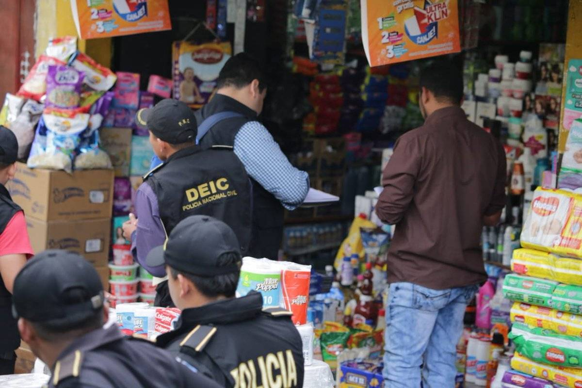 operativo contra el contrabando en la capital