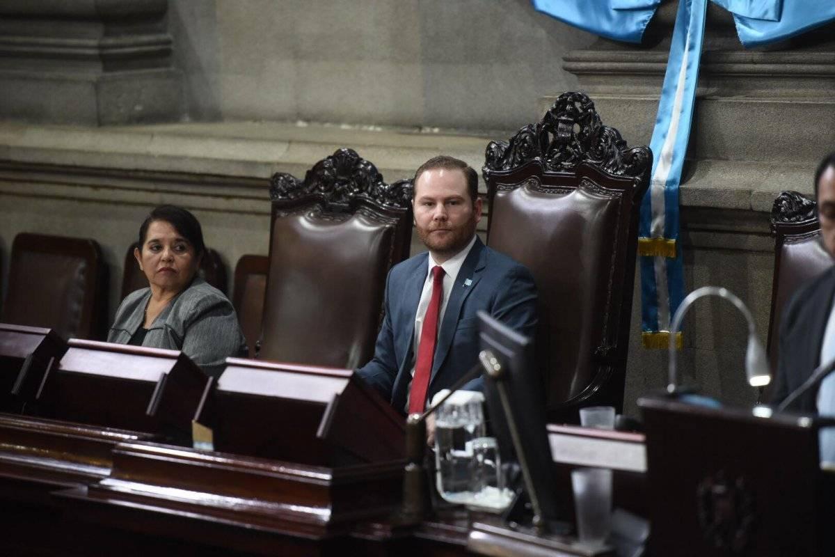 Álvaro Arzú Escobar en 2019 fue reelecto presidente del Congreso de la República. Foto: Edwin Bercián