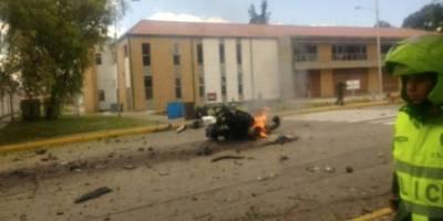 explosión del carro bomba en Bogotá