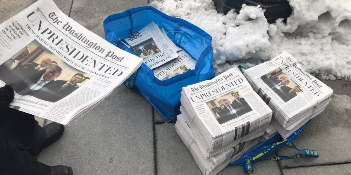 Circuló falsa edición del Washington Post informando renuncia de Trump