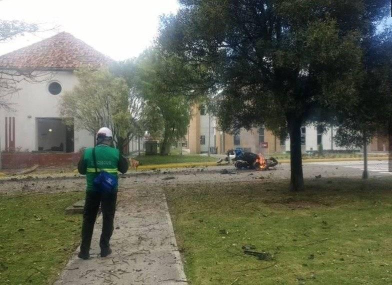 explosión del carro bomba en Bogotá Internet