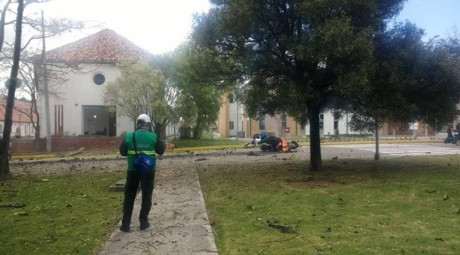 FOTOS atentado Bogota: Así quedaron los edificios cercanos a la Escuela General Santander