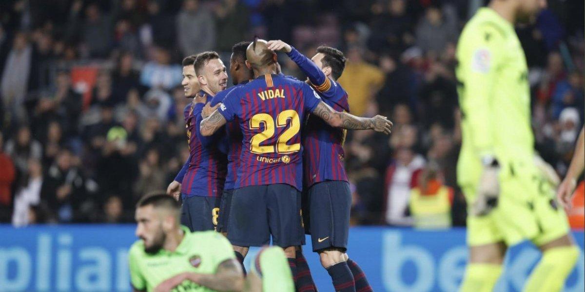 Minuto a minuto: Barcelona vence sin problemas al Levante y está avanzando en la Copa del Rey