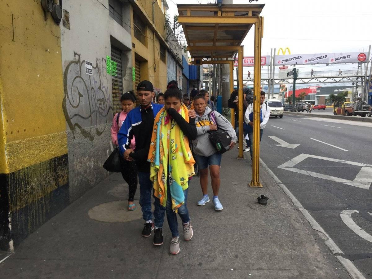 Caravana de migrantes para por Guatemala. Foto: Álvaro Alay