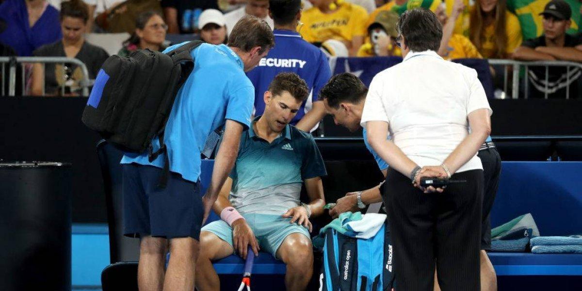 Dominic Thiem se retira por lesión del Abierto de Australia