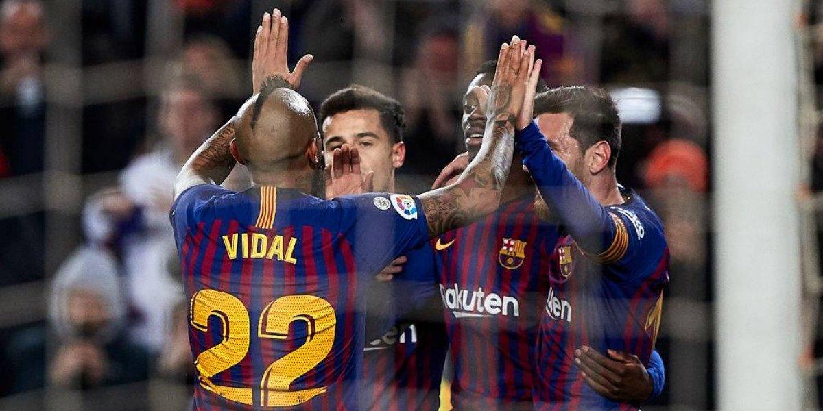"""El Barcelona """"levantó"""" la llave con un tremendo Arturo Vidal y está en los cuartos de final de la """"Copa del King"""""""