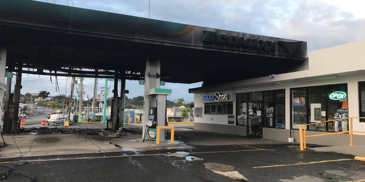 Incendio en estación de gasolina EcoMaxx en Bayamón fue provocado por uso de celular