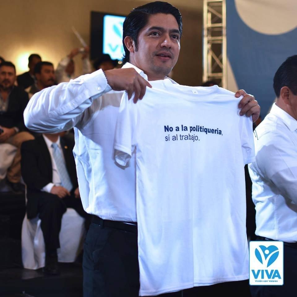 Juan Carlos Eggenberger es el candidato a presidente por Viva. Foto: Facebook