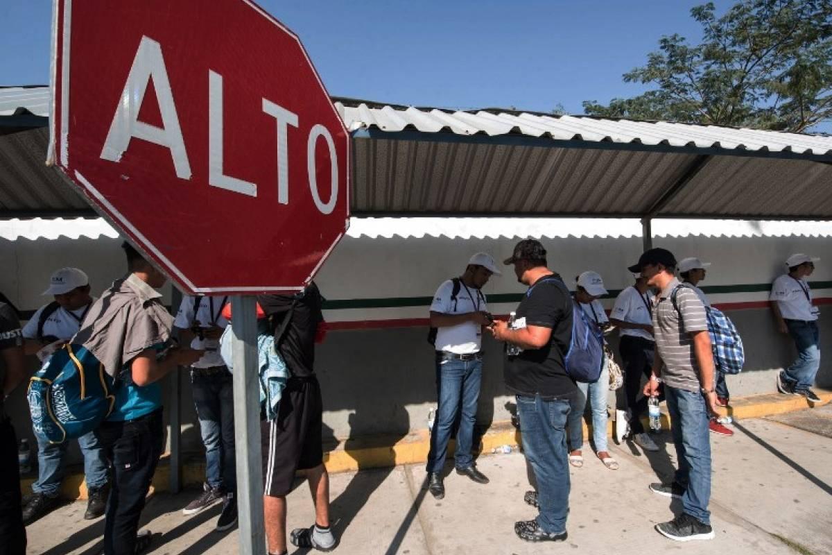 Una nueva caravana de migrantes centroamericanos llega a México