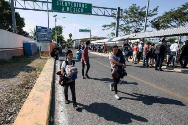Un grupo de migrantes ingresó a México