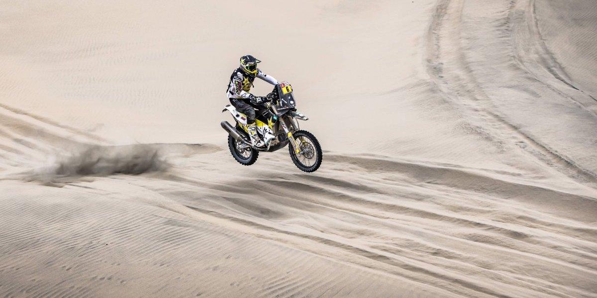 Un corajudo Pablo Quintanilla luchó hasta el final pero no pudo y terminó en el cuarto lugar del Rally Dakar