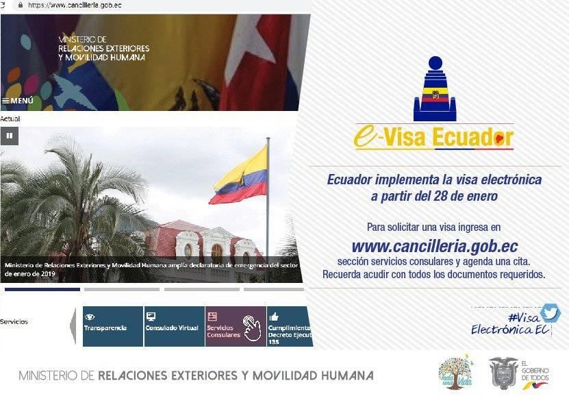 Ecuador implementará visa electrónica