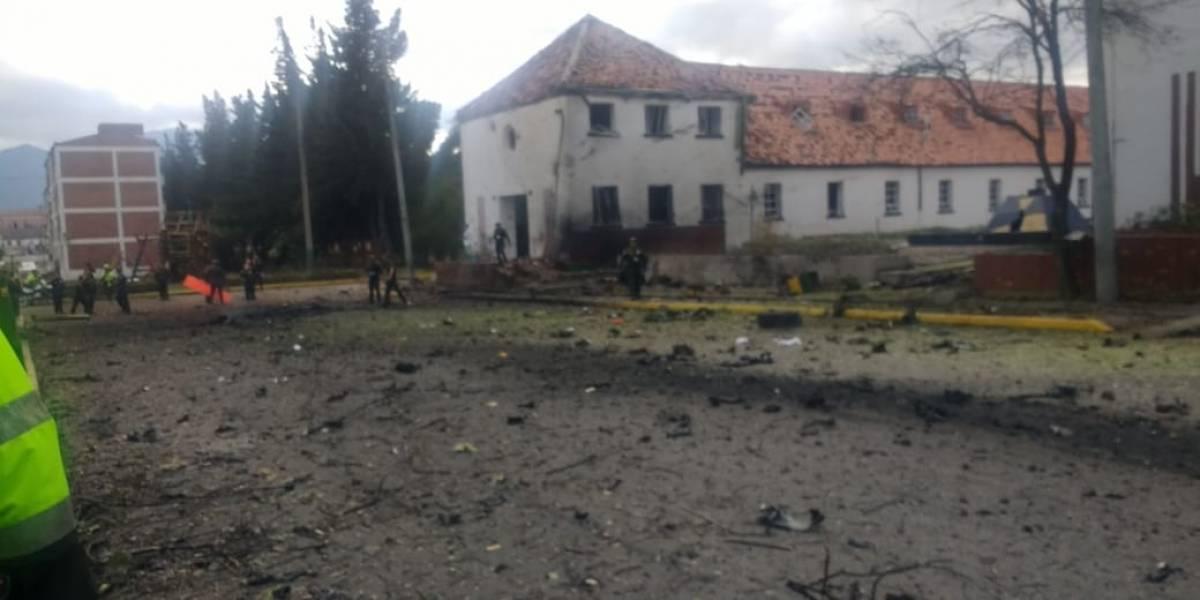 No entró por la fuerza: video desmiente versiones anteriores sobre carro bomba en la Escuela General Santander