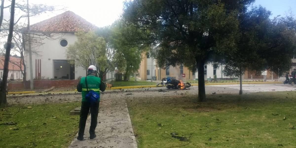 Ocho muertos por carrobomba frente a la Escuela de Policía General Santander