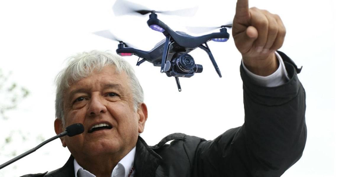 AMLO podría usar drones para vigilar ductos de PEMEX