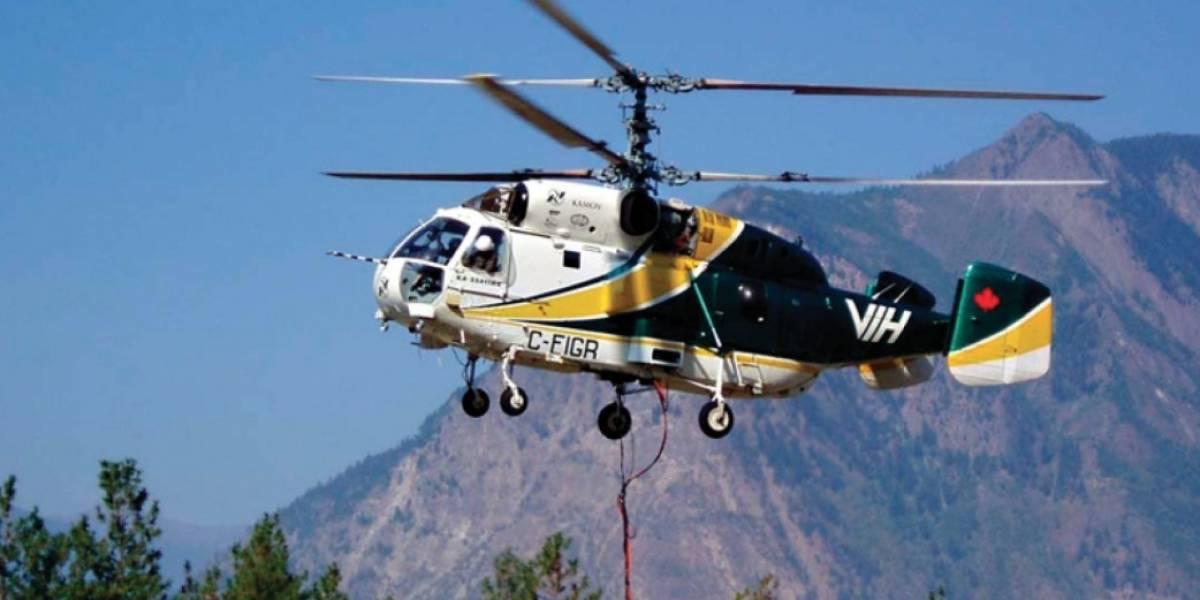 Combate de los incendios forestales tiene nuevo aliado: llegó helicóptero ruso Kamov KA-32 a Chile