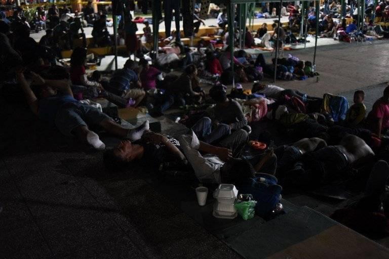 caravana de migrantes hondureños en Guatemala
