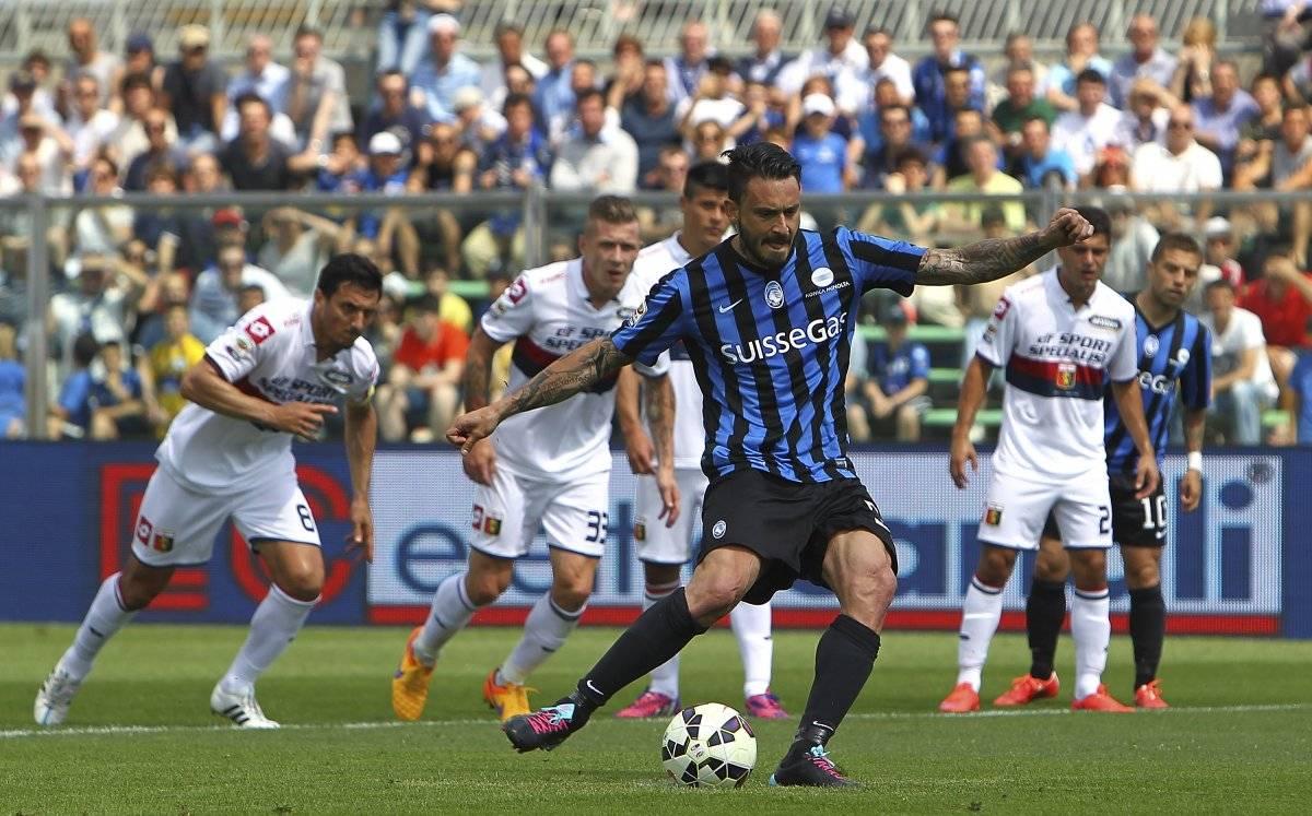 Mauricio Pinilla en su paso por Atalanta de Italia / Getty Images