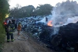 incendio en recicladora de Villa Canales