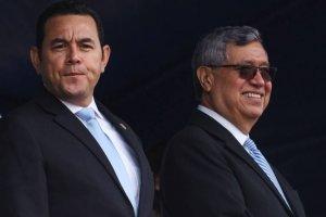 Presidente Jimmy Morales y vicepresidente Jafeth Cabrera