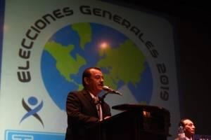 Magistrado presidente del TSE, Mario Aguilar Elizardi, hace la convocatoria a elecciones.