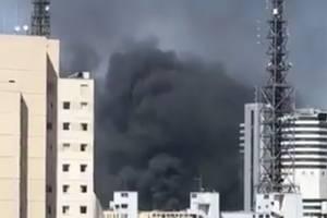 Incêndio de grandes proporções atinge prédio do Instituto do Coração, na região da Paulista