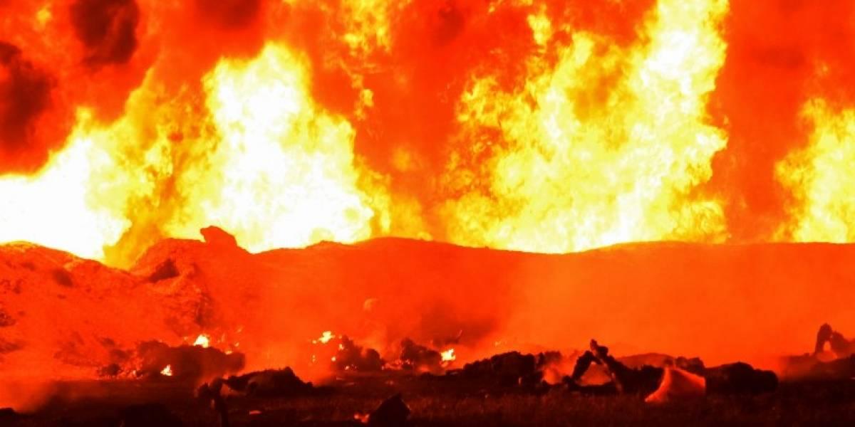 VIDEO. Imágenes estremecedoras del momento de la explosión en ducto de combustible en México