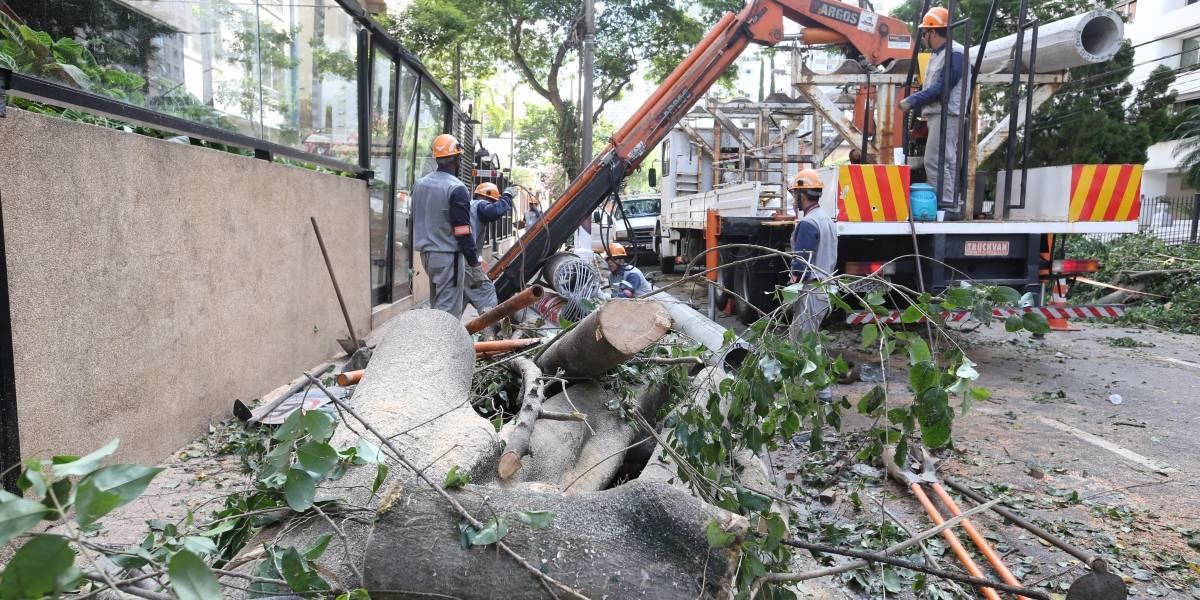 Chuva provoca desabamento de casas na zona sul; veja vídeo