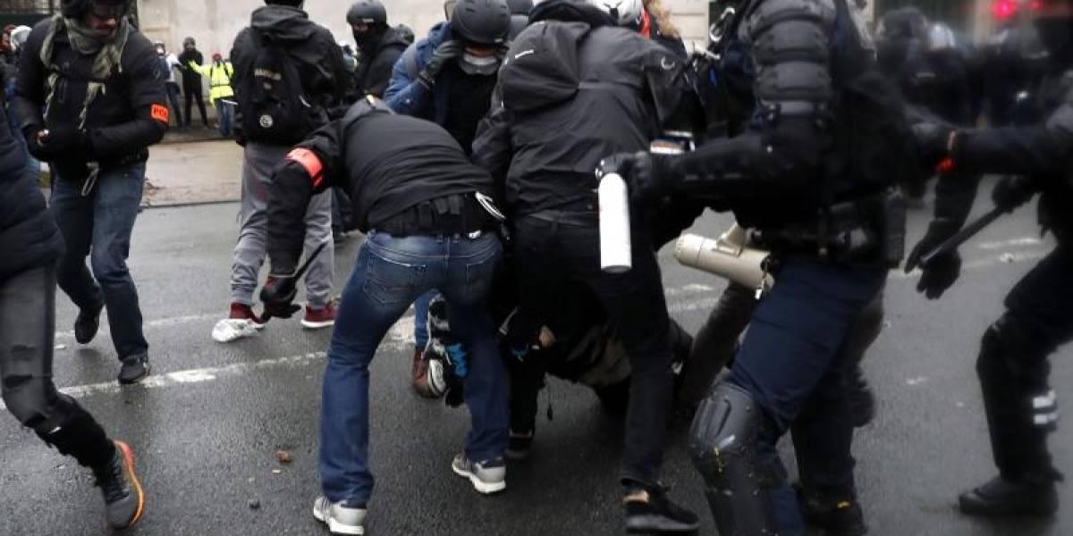 """Las protestas de los """"chalecos amarillos"""" en Francia pierden energía"""