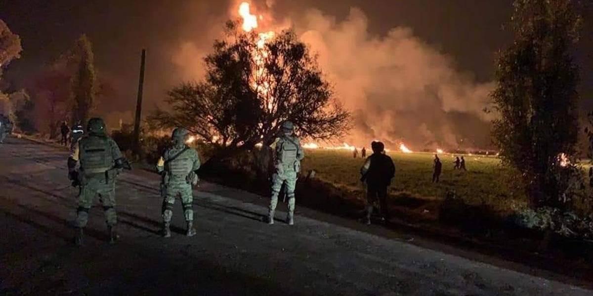 Las impactantes imágenes y videos tras explosión de oleoducto que dejó 66 muertos en México