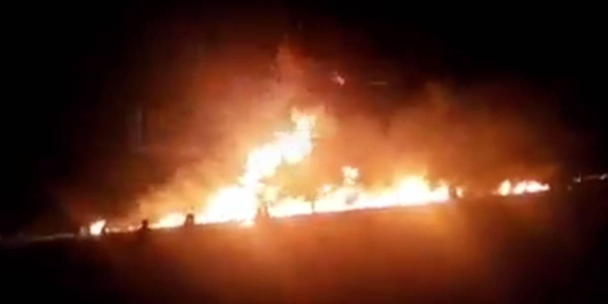 Impactantes imágenes y vídeos tras explosión de oleoducto que dejó 71 muertos en México