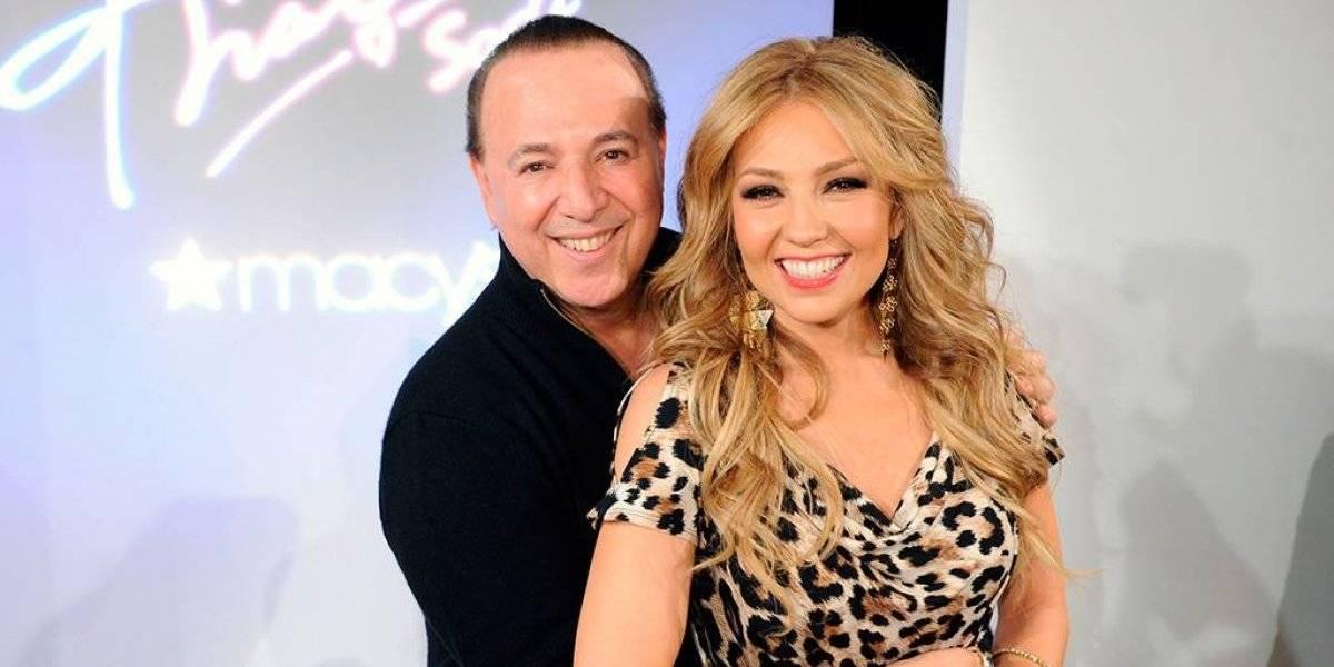 FOTO. Tommy Mottola elimina foto donde Thalía no luce bien y la hacen viral