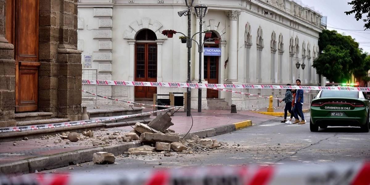 Andacollo y catedral de La Serena son las zonas más dañadas tras sismo de 6,7 en la Región de Coquimbo