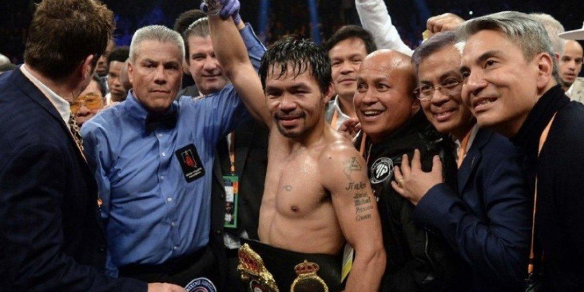 Manny Pacquiao vencen Broner y reta a revancha a Floyd Mayweather