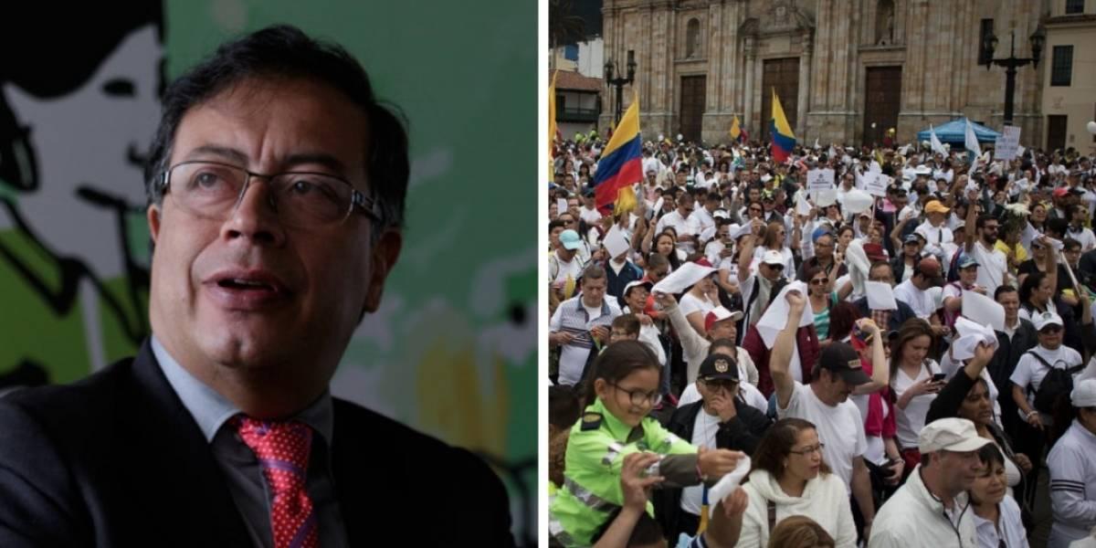 Gustavo Petro contó por qué no participó de las marchas del domingo