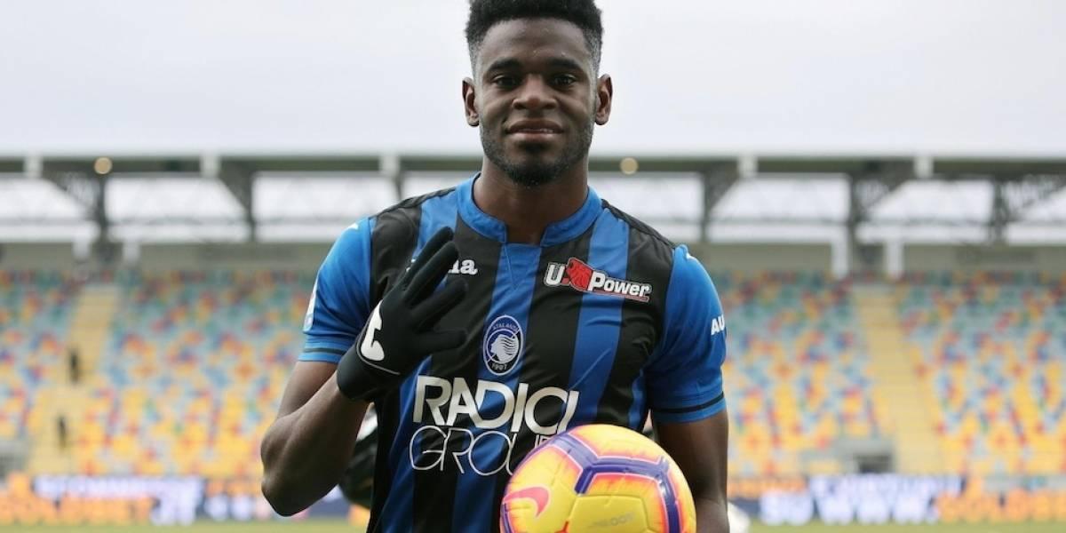 Póker de Duván Zapata en la goleada de Atalanta ante Frosinone