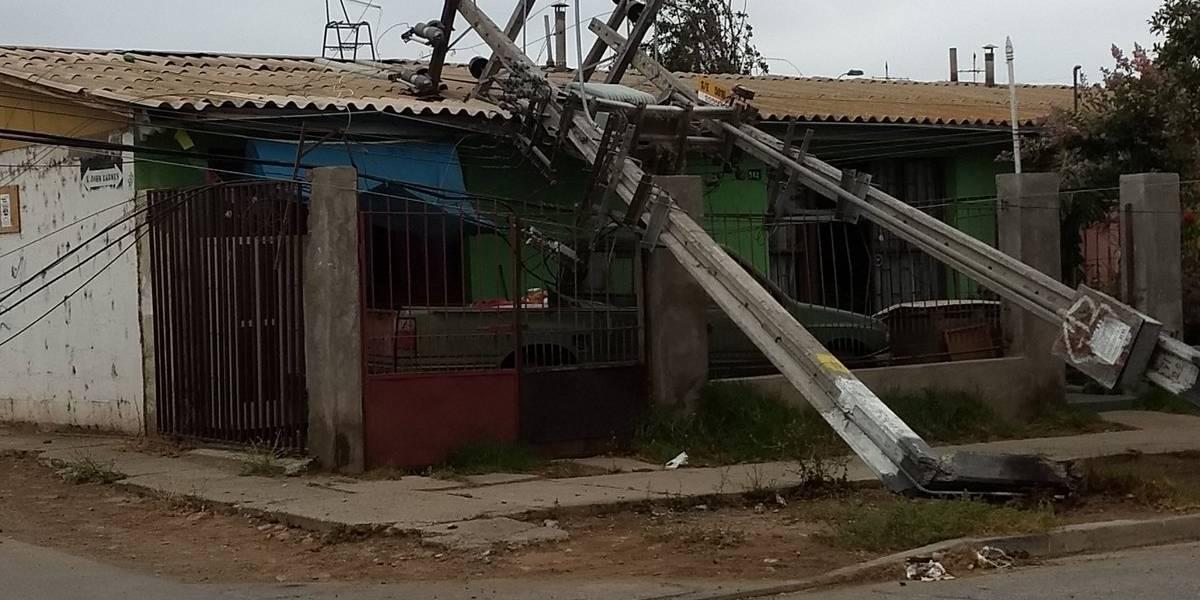 Postes caídos, rodados y casas afectadas: ciudad de Ovalle también sufrió los efectos