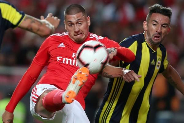 Nicolás Castillo ha sumado pocos minutos en Benfica / Foto: Getty Images